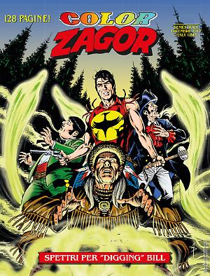 "Spettri per ""Digging"" Bill - Color Zagor 06 cover"