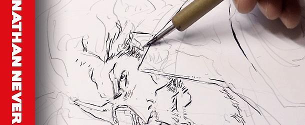 Massimo Dall'Oglio disegna Nathan Never!